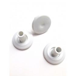 Voetjes EA 107/107/124/125 in wit, setje van 4 stuks