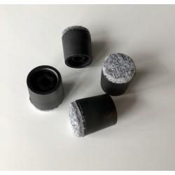 Voetjes zwart harde- zachte vloer per set van 4 stuks