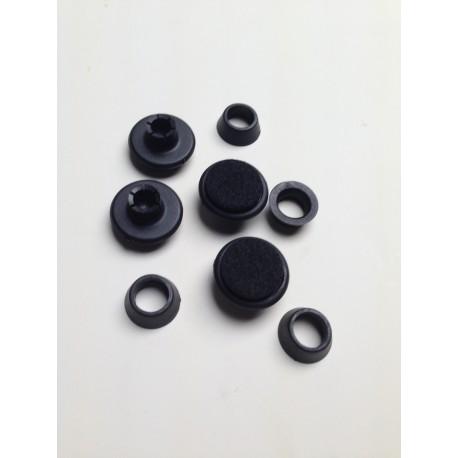 DSR/DAR/DKR voetjes in zwart per set van 4 stuks