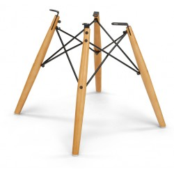 Dowelbase (hout) esdoorn, zwart frame